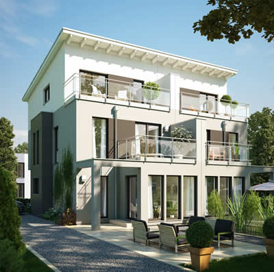 bauhaus bauhaus exklusiv modernes architekten haus. Black Bedroom Furniture Sets. Home Design Ideas
